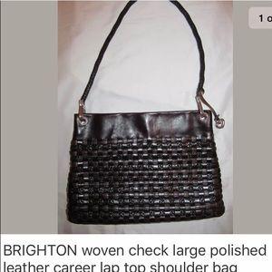 BRIGHTON large woven great for laptop shoulder bag